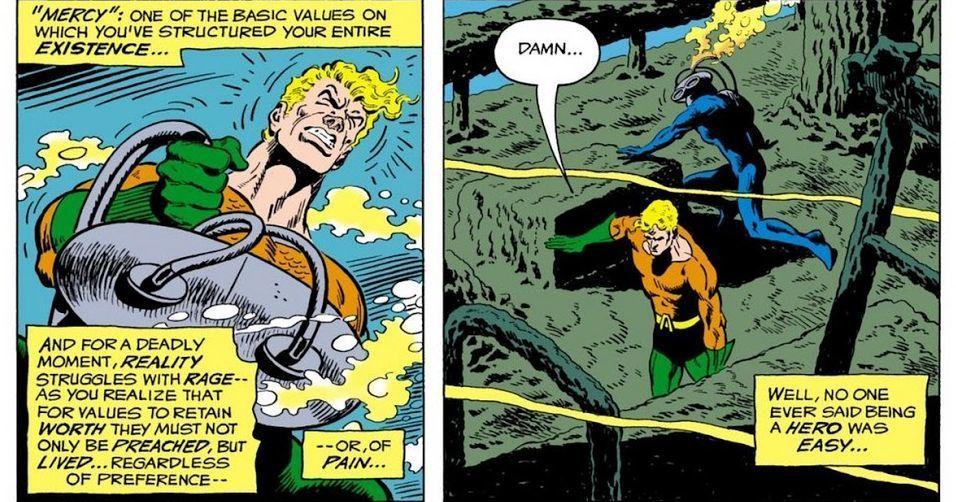 Aquaman #57, written by David Michelinie with art by Jim Aparo and Liz Berube