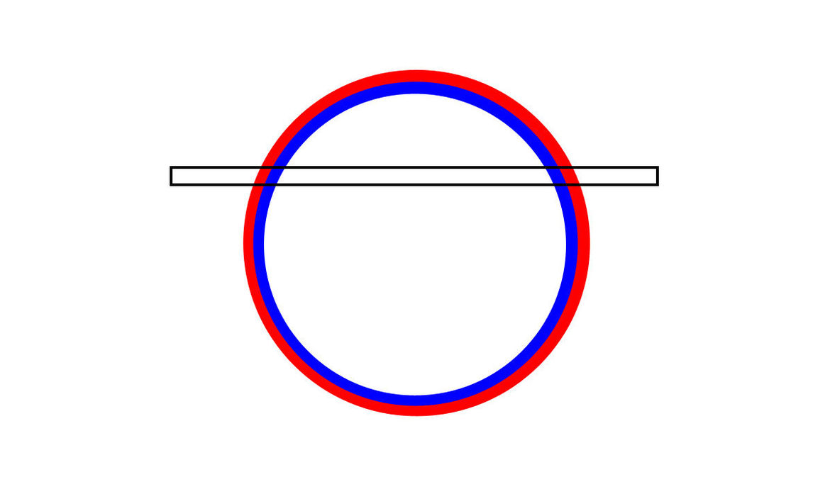 A schematic showing why the glory appears as straight lines in the Aqua image.