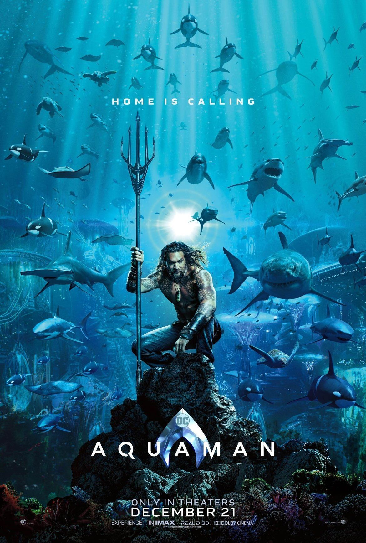 Aquaman finds nemo in films first teaser poster aquaman poster thecheapjerseys Gallery