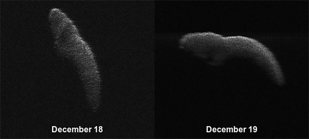 Radar images of asteroid 2003 SD220 using the Arecibo and Greenbank radio telescopes. Credits: NASA/Arecibo/USRA/UCF/GBO/NSF