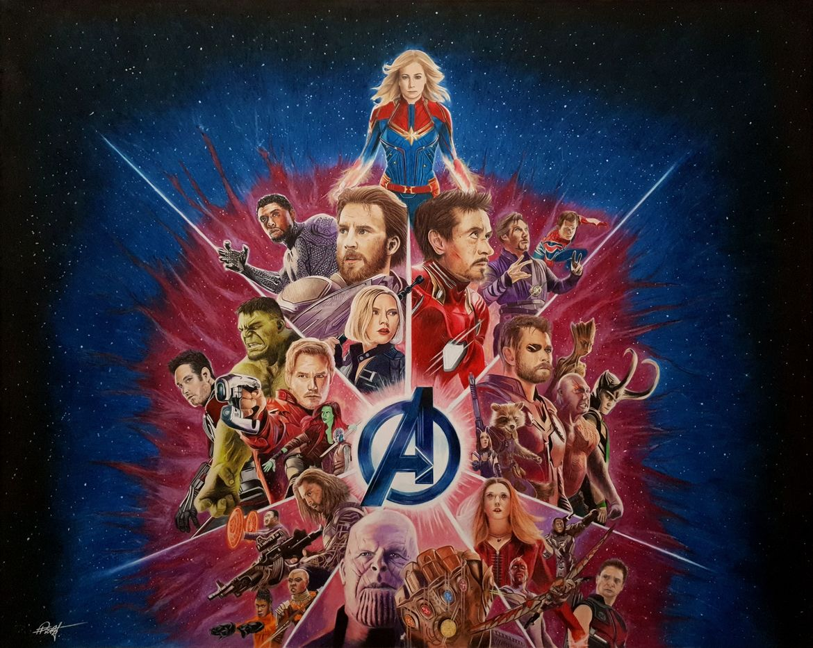 Avengers drawing by Pete Frost