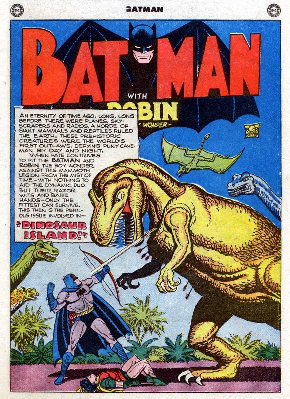 Batman Issue 35 Dinosaur Island Panel