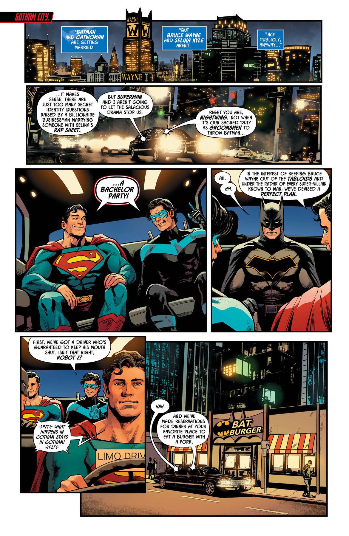 Batman Prelude to the Wedding Nightwing vs Hush 1 page 1