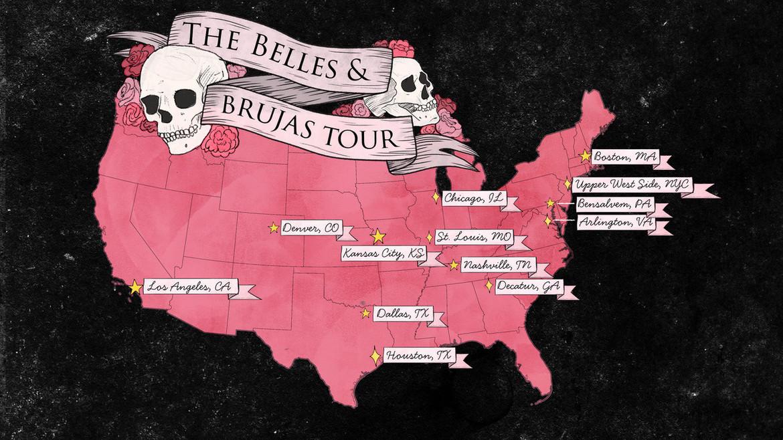 belles brujas tour cities