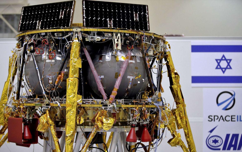 Beresheet, an Israeli lunar lander, nearing completion. Credit: SpaceIL