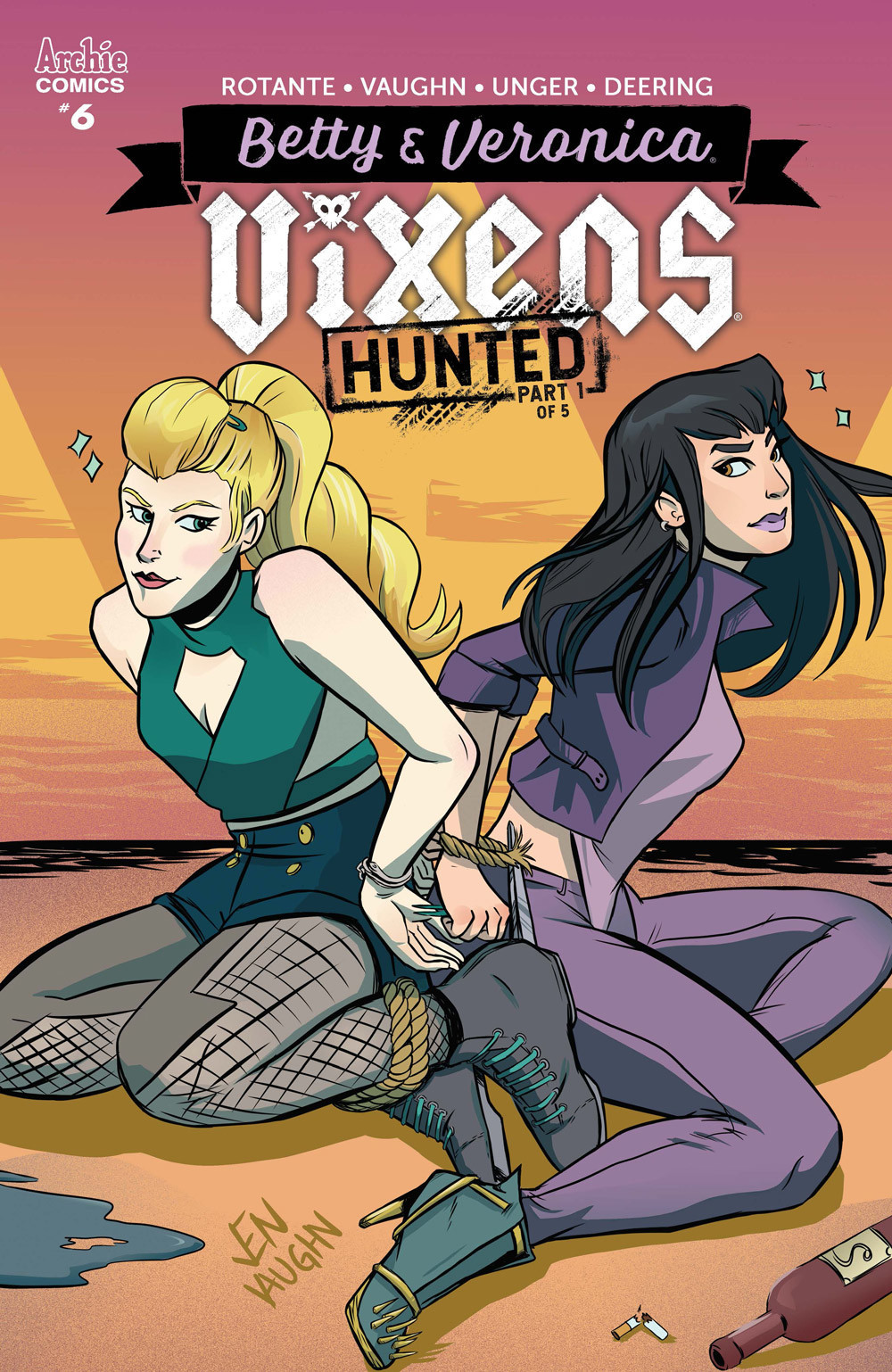 betty and veronica vixens 06 cover jen vaughn