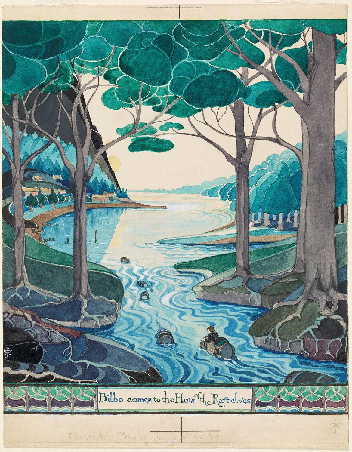 The Hobbit watercolor - The Morgan exhibition