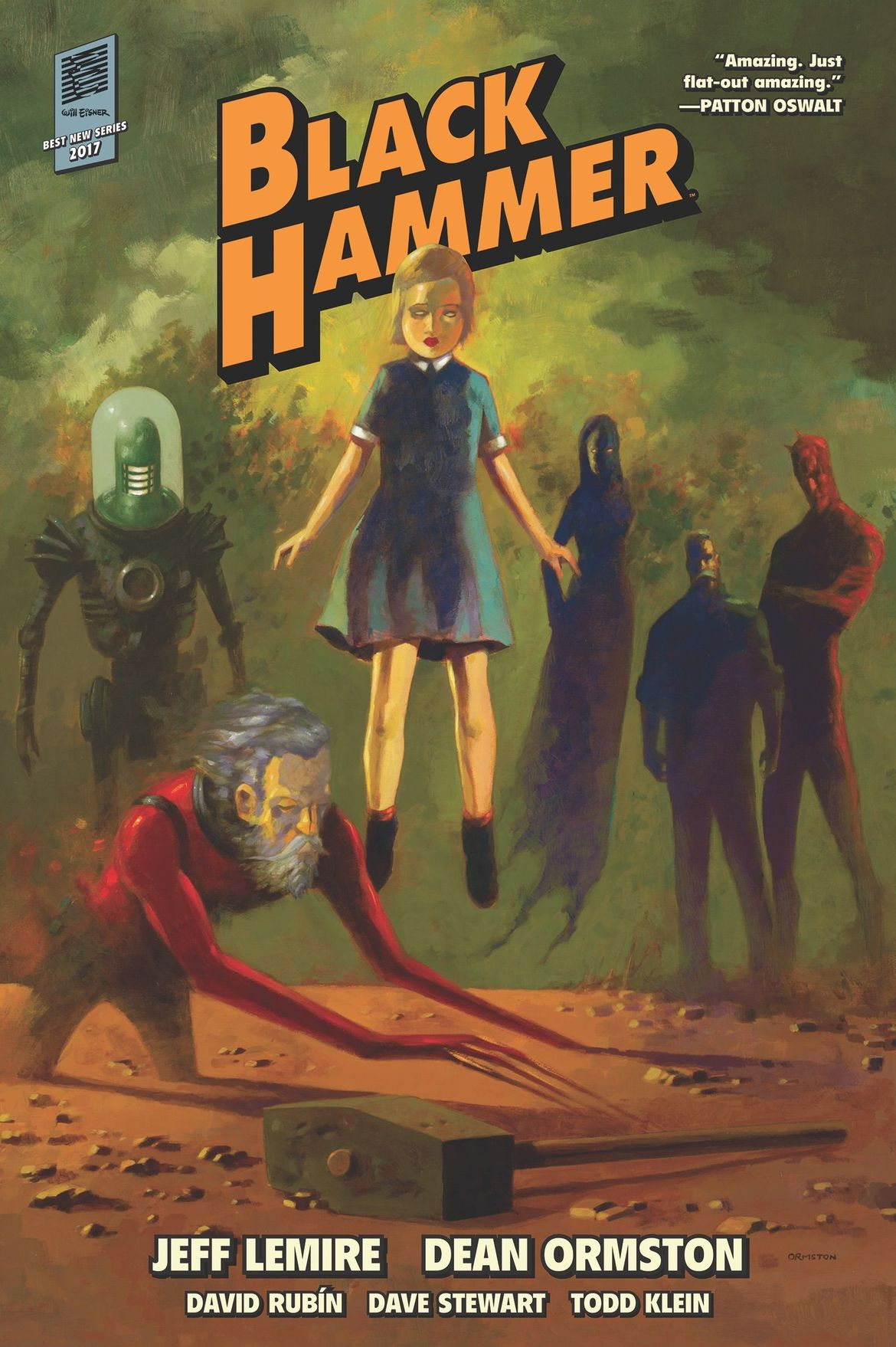 Black Hammer Library Ed. 1 Oil Painting Cover