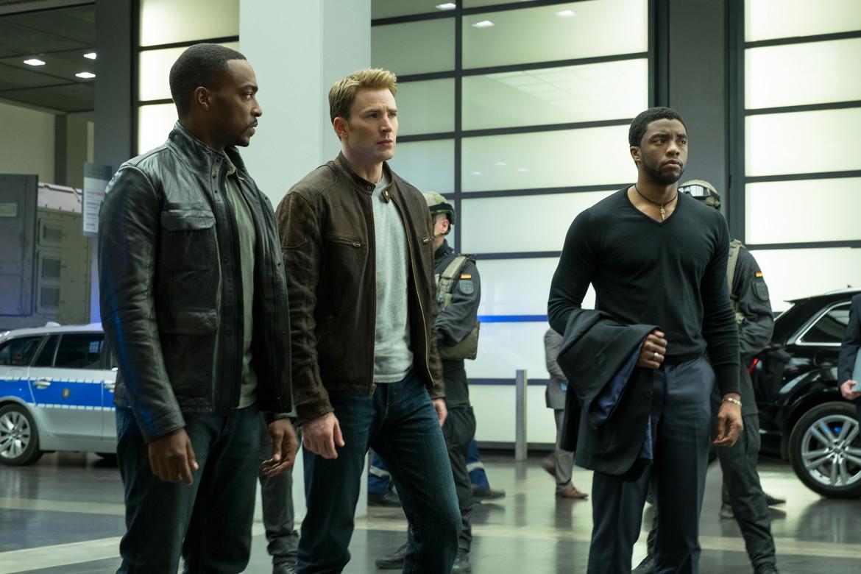 T'Challa, Steve Rogers, Sam Wilson —Captain America: Civil War