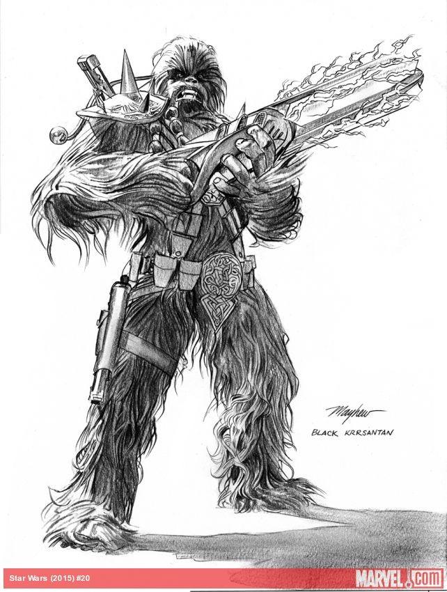 A drawing of Black Krrsantan
