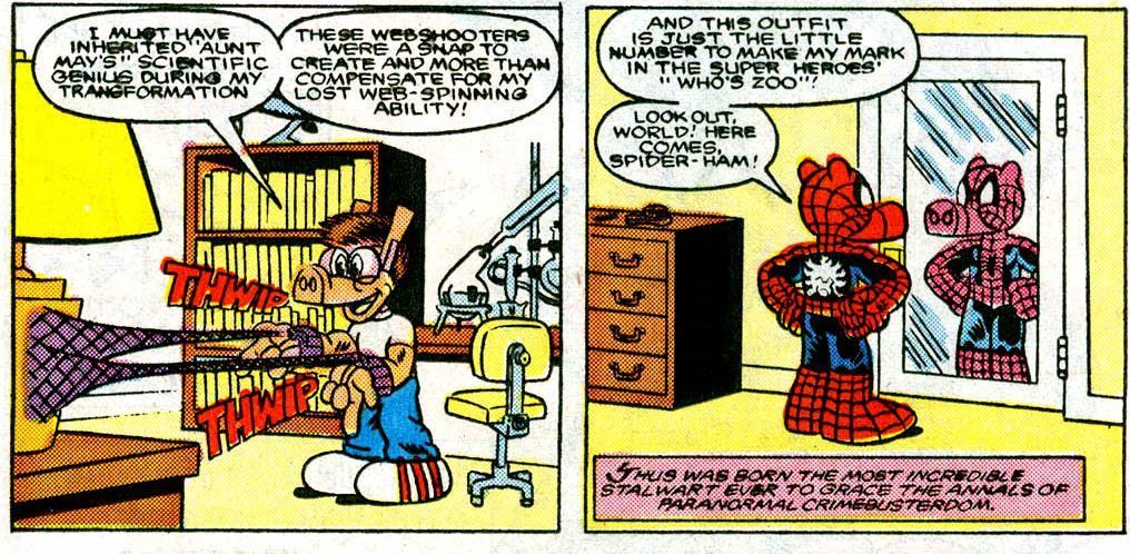 Peter Porker: The Spectacular Spider-Ham #15 (Written by Steve Skeates, Art by Mark Armstrong)