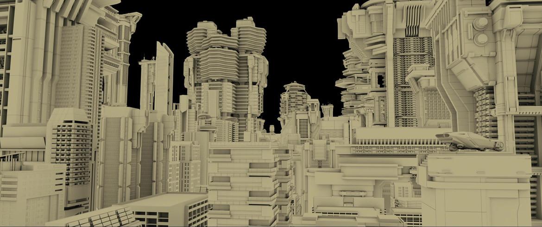 Blade Runner 2049 buildings 1 render