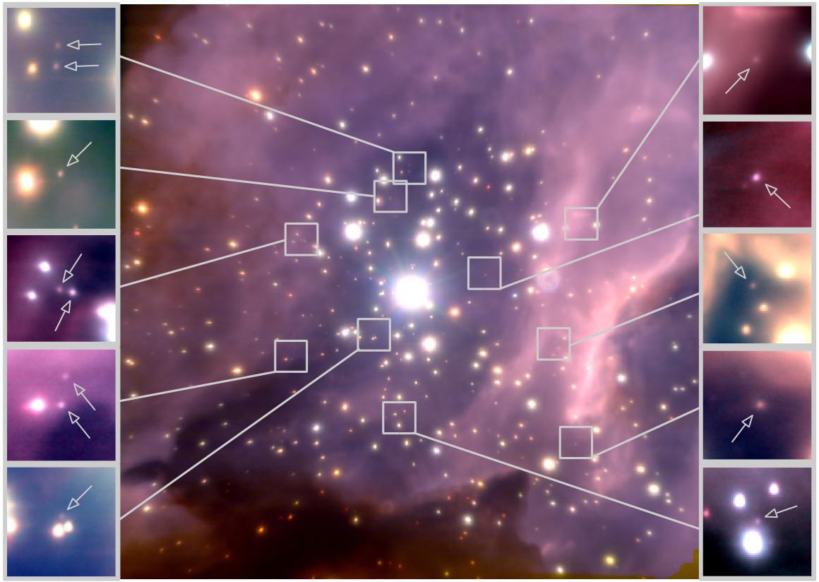 cluster with brown dwarfs