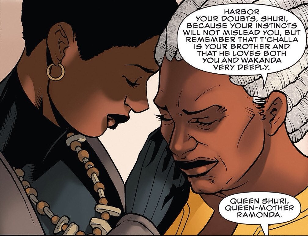 Shuri and Ramonda, Black Panther marvel comics