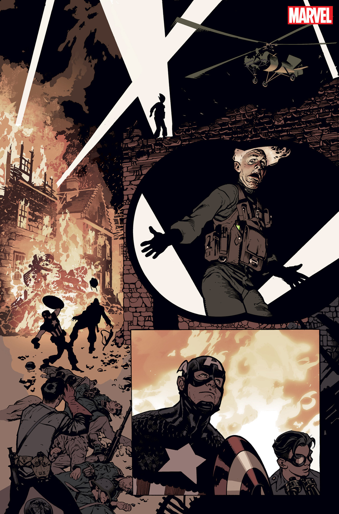 Captain America 701- Artwork by Hughes