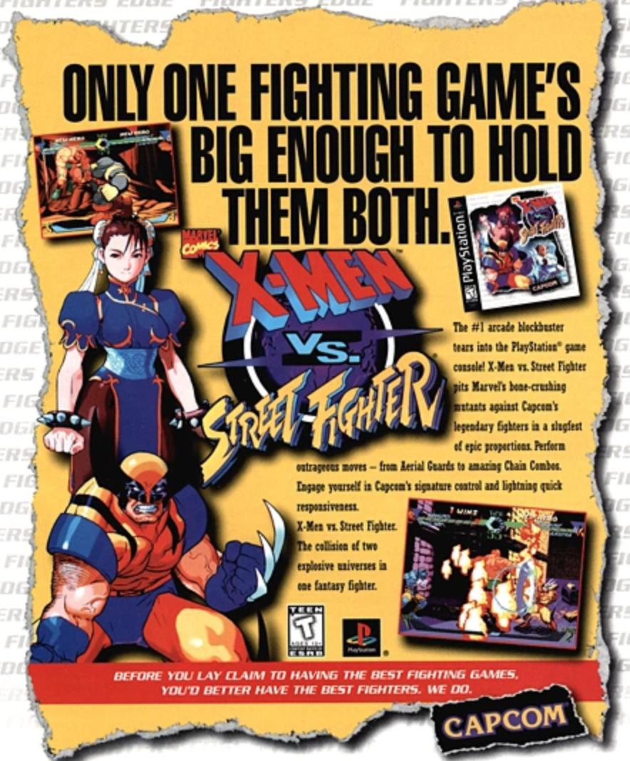 Full Tilt Capcom S X Men Vs Street Fighter At 20