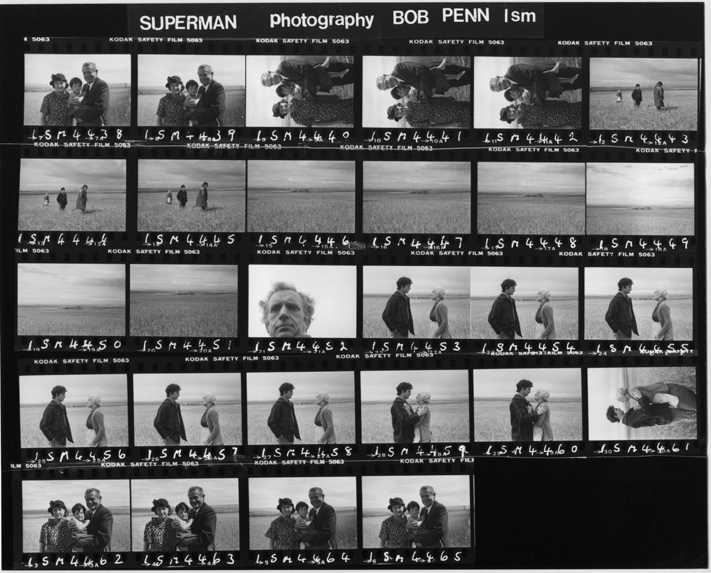 Superman 1978 contact sheet