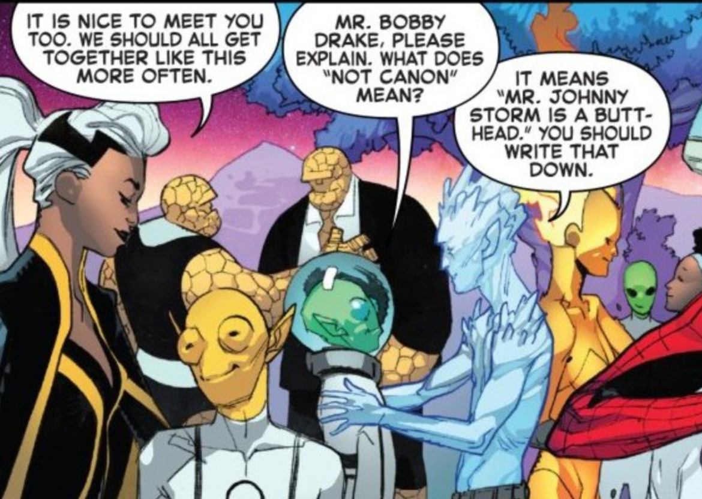 Fantastic Four Iceman canon
