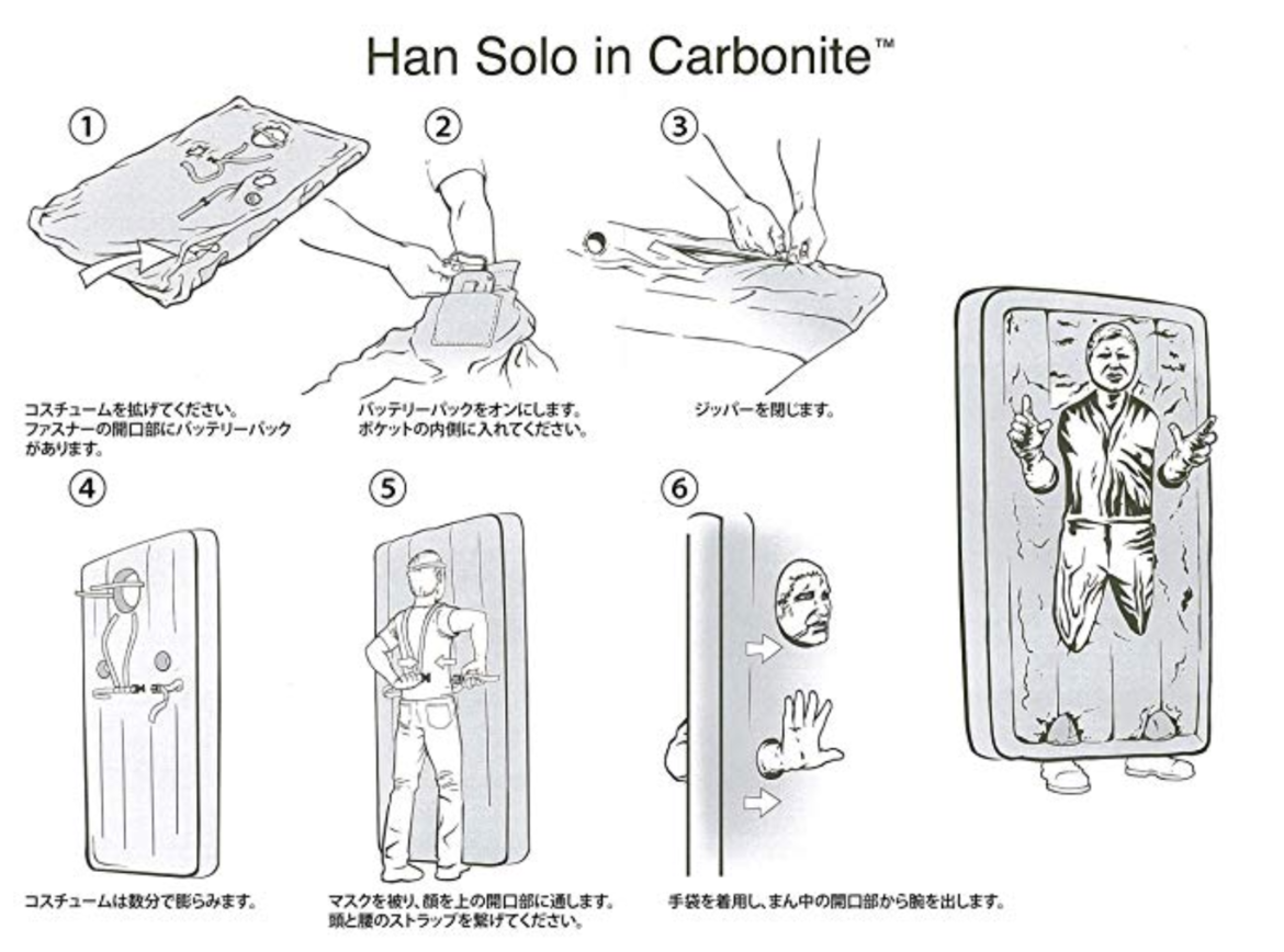 Han solo inflatable costume instructions