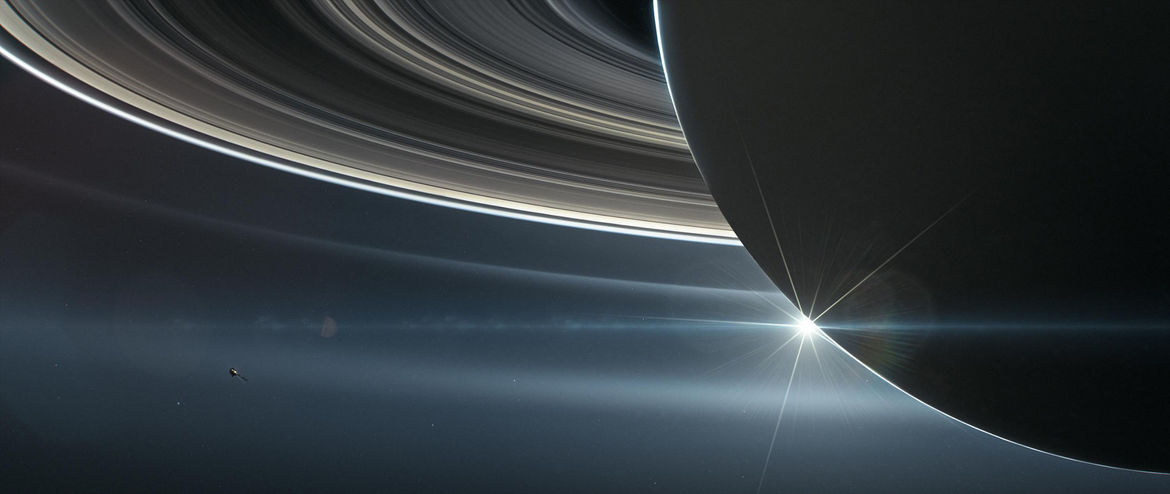 Artist drawing of Cassini on its final approach to Saturn on September 15, 2017. Credit: NASA/JPL-Caltech