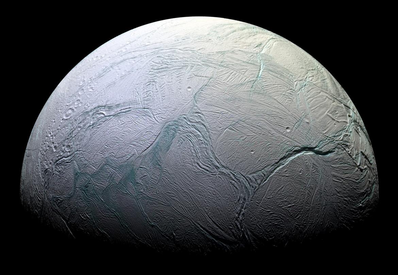 Enceladus. Credit: NASA/JPL/Space Science Institute
