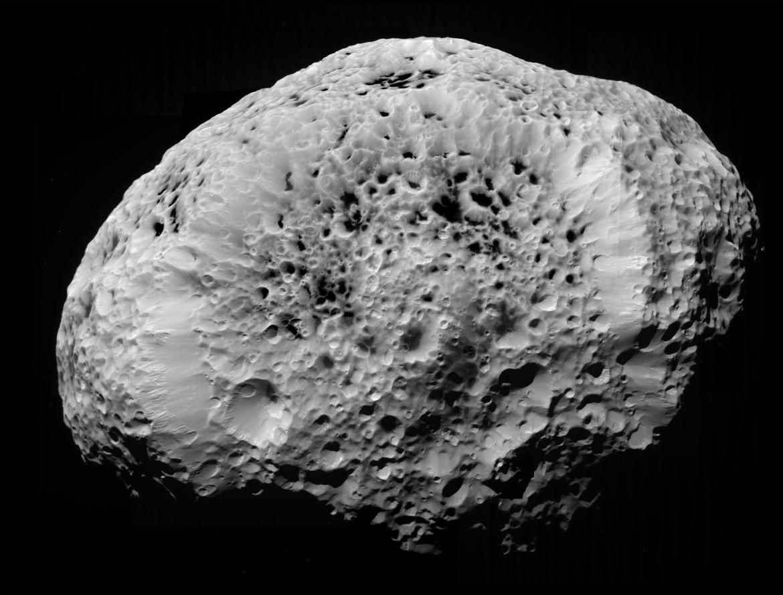Hyperion looks like a Styrofoam moon. Credit: NASA / JPL-Caltech / SSI / Exploitcorporations