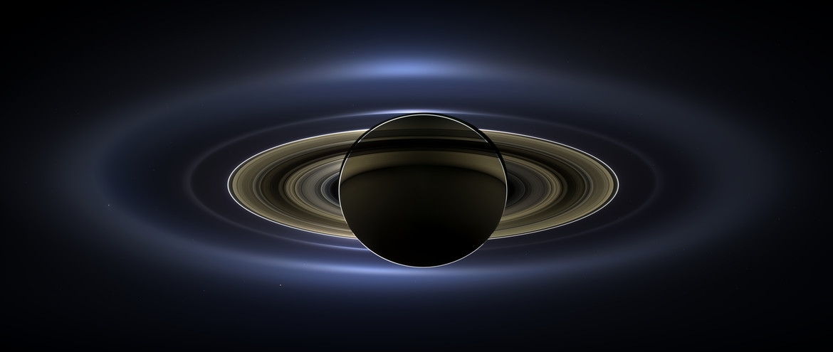 Saturn, backlit and gorgeous. Credit: NASA/JPL/Space Science Institute
