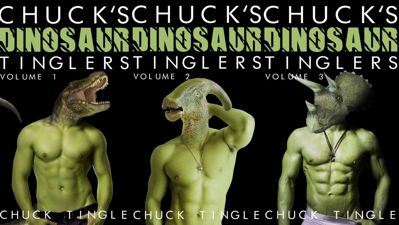 Chuck Tingle Dinosaur Tingles book covers