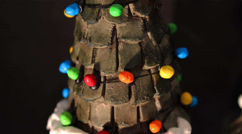 closeup of candy lights