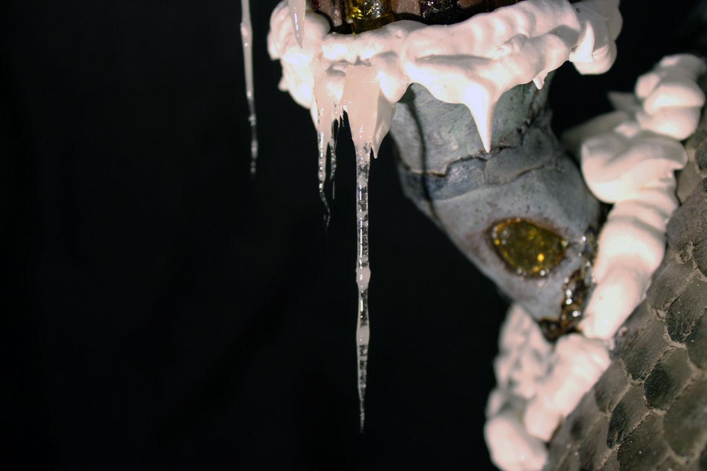 closeup of icicile