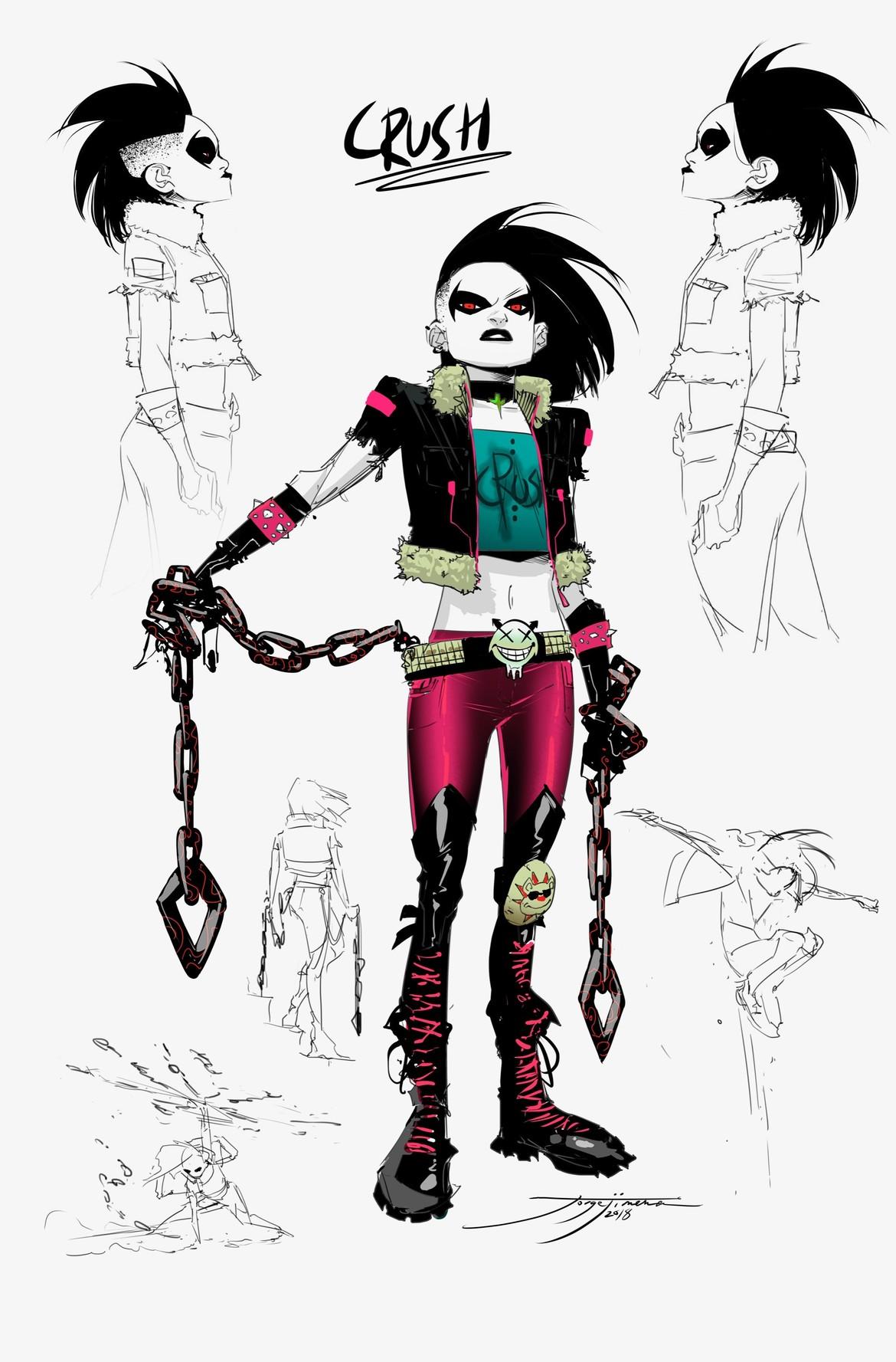 Teen Titans - Crush, Concept Art by Robson Rocha