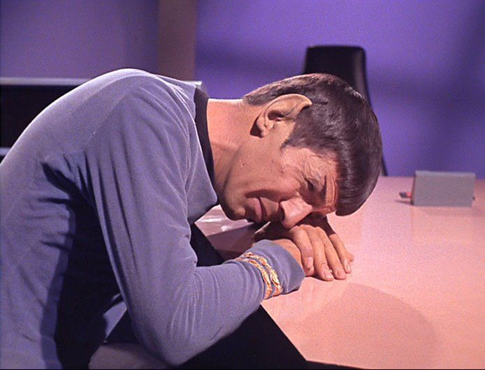 crying spock star trek