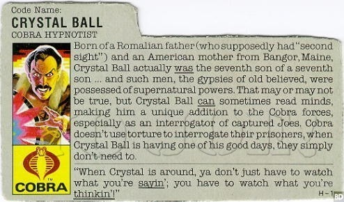 crystal ball, gi joe, stephen king