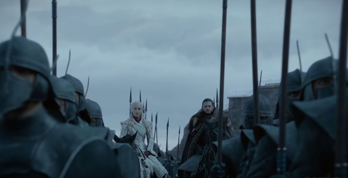 Daenerys and Jon Snow, Game of Thrones trailer