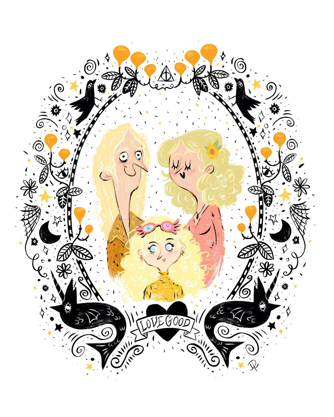 Lovegood family portrait by Dayana Ramirez