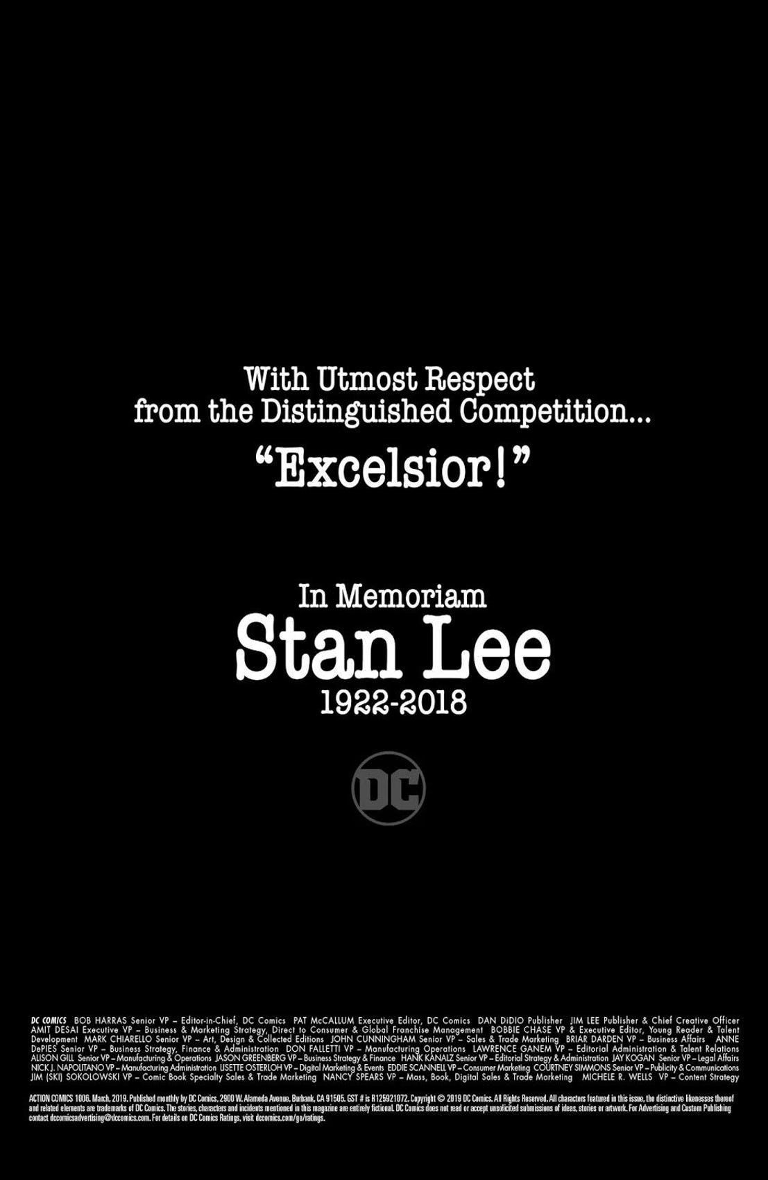 DC Stan Lee Tribute