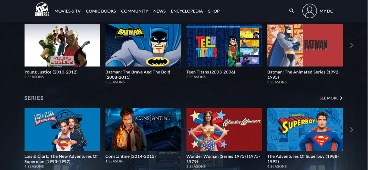 DC Universe Movies and TV