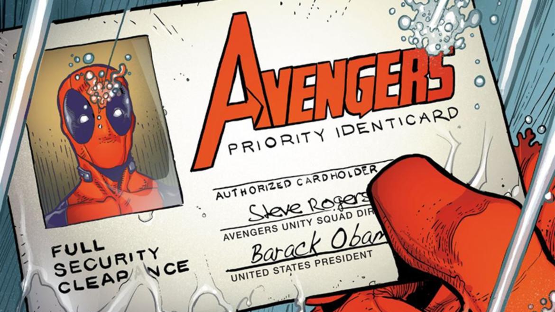 Deadpool Avengers card