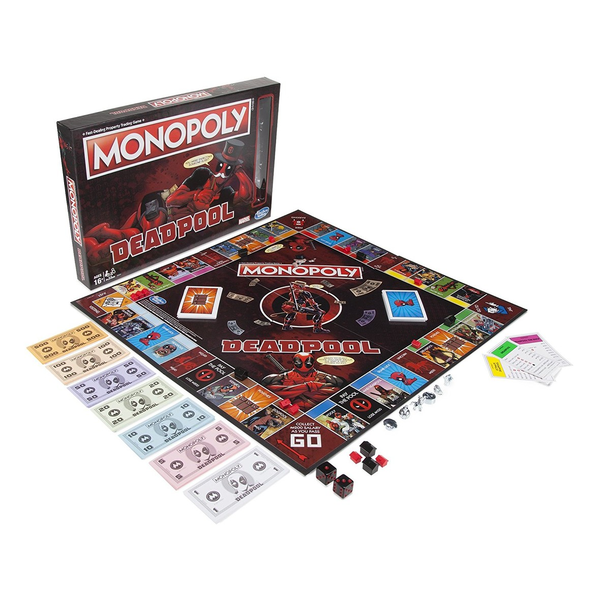 Deadpool Monopoly Board