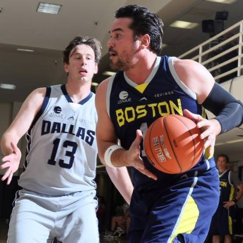 Dean Cain playing basketball