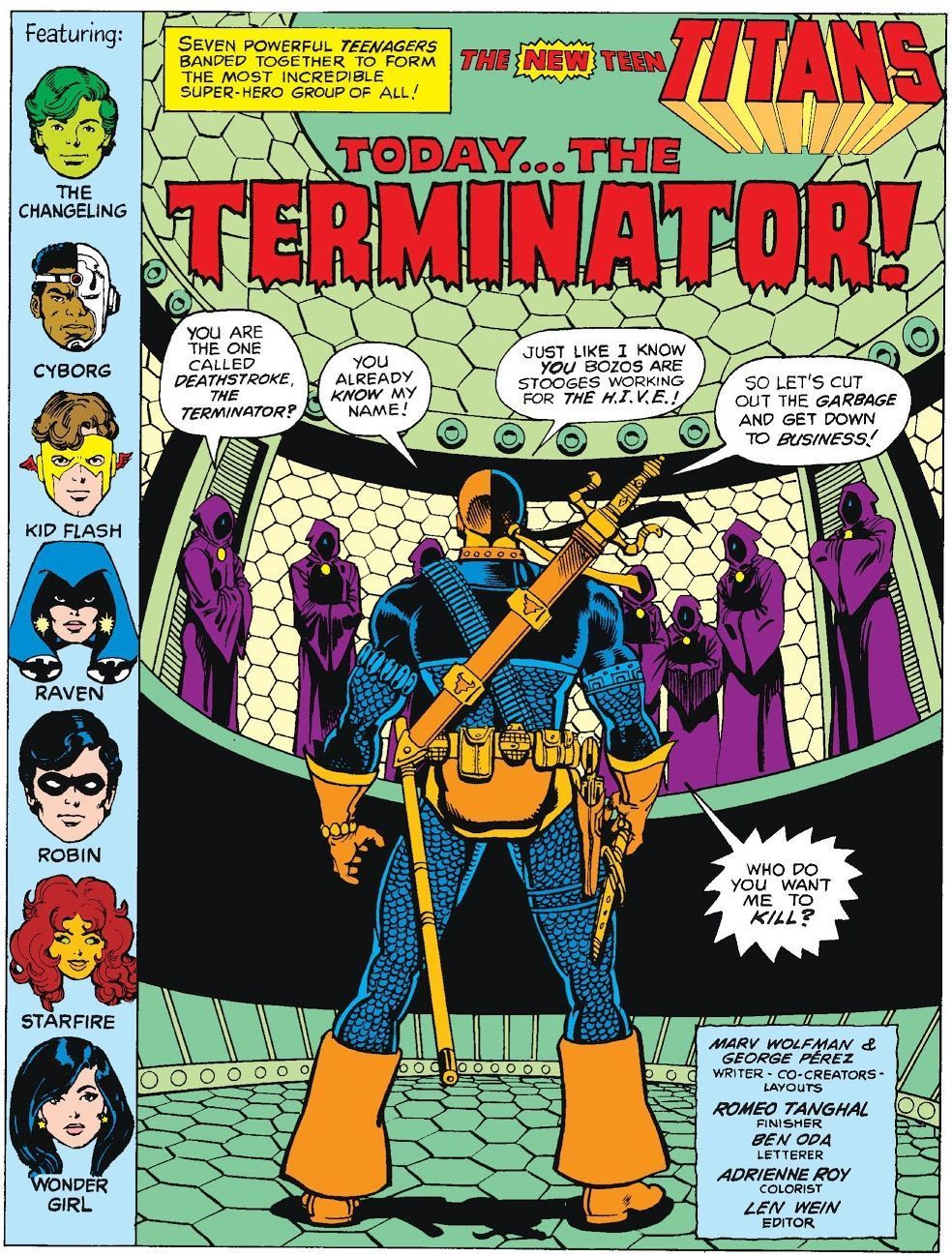 The New Teen Titans #2 (Written by Marv Wolfman, Art by George Perez)