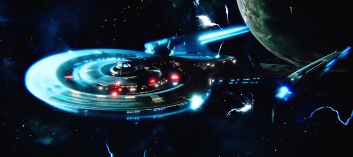 U.S.S. Discovery uses the spore drive