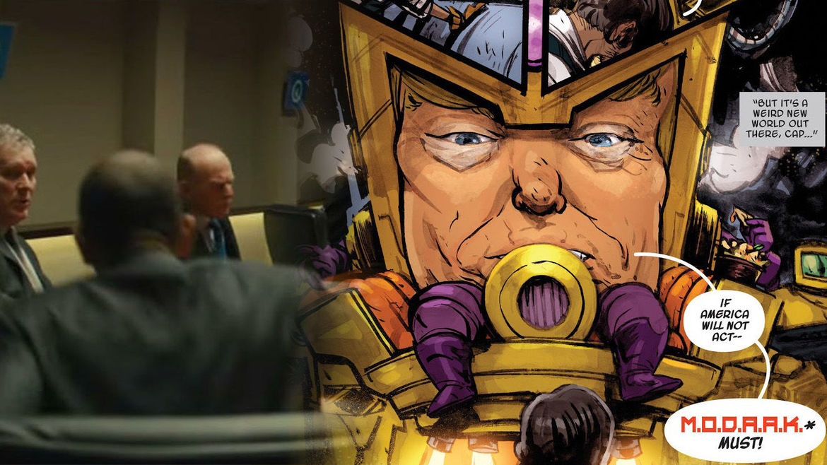 Obama and Trump in Kingsman and Marvel
