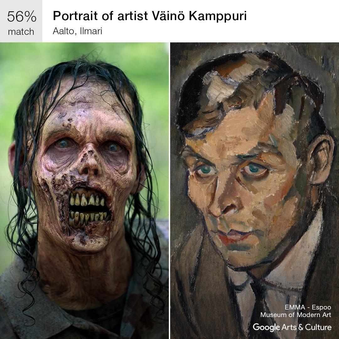 The Walking Dead zombie Google Arts