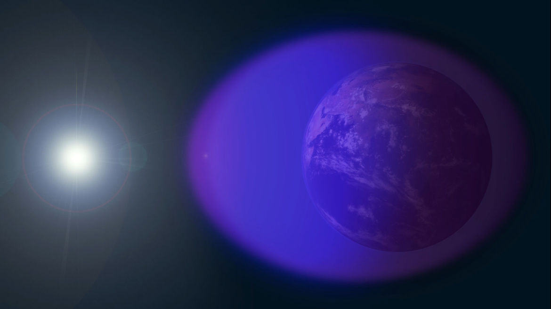NASA image of Earth's ionosphere