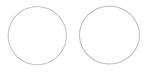 Drawings of a circle and an ellipse representing Earth's orbit. Can you tell which is which?