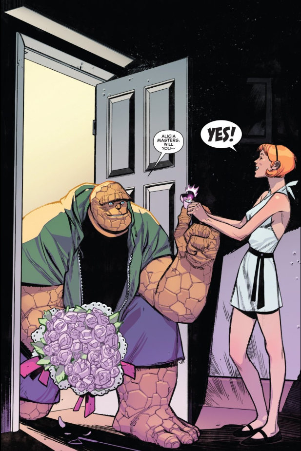 Fantastic Four #1 Ben and Alicia