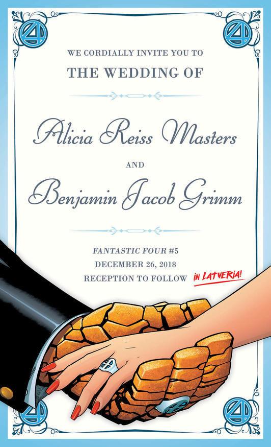 Fantastic Four Wedding Invite