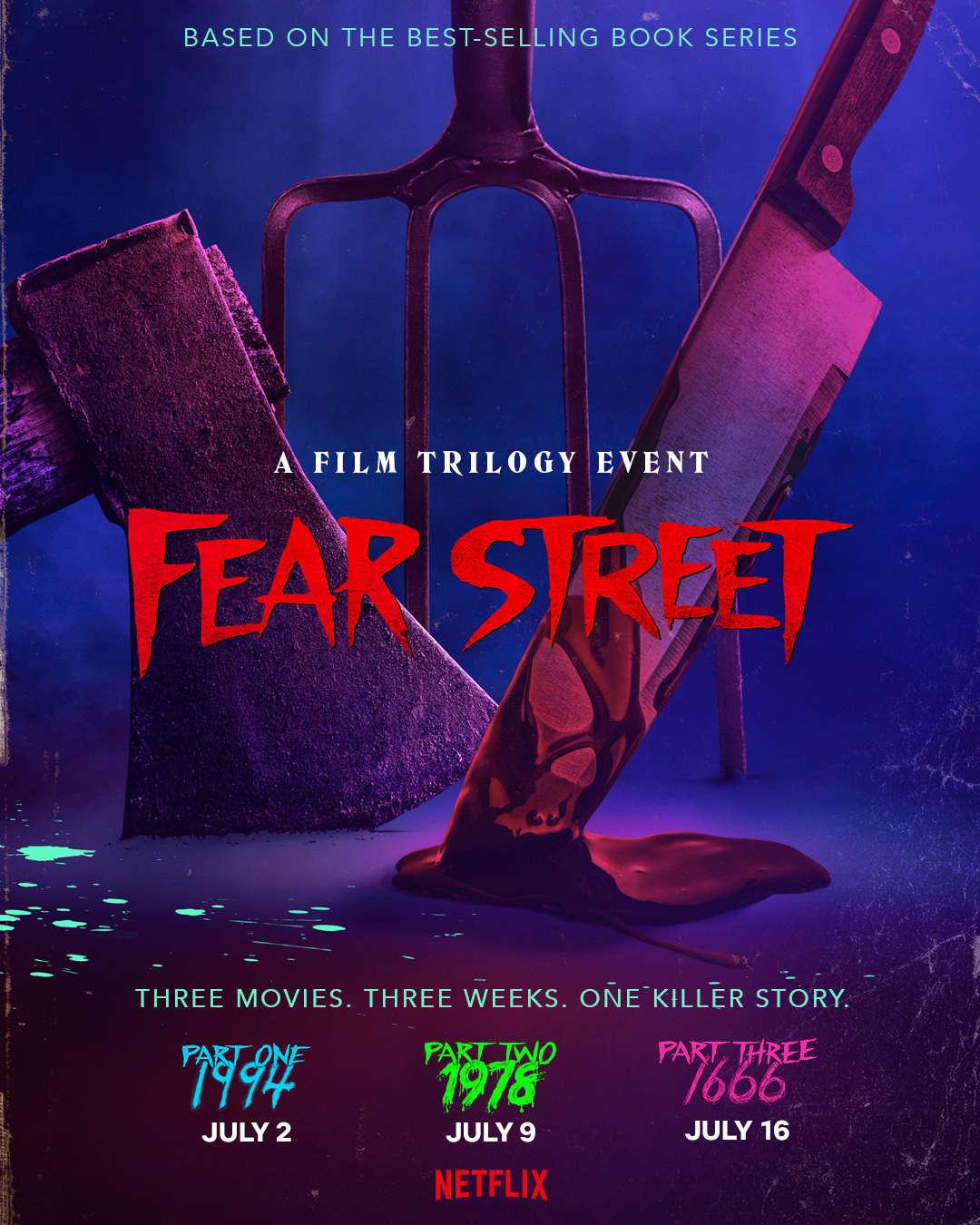 Fear Street trilogy key art