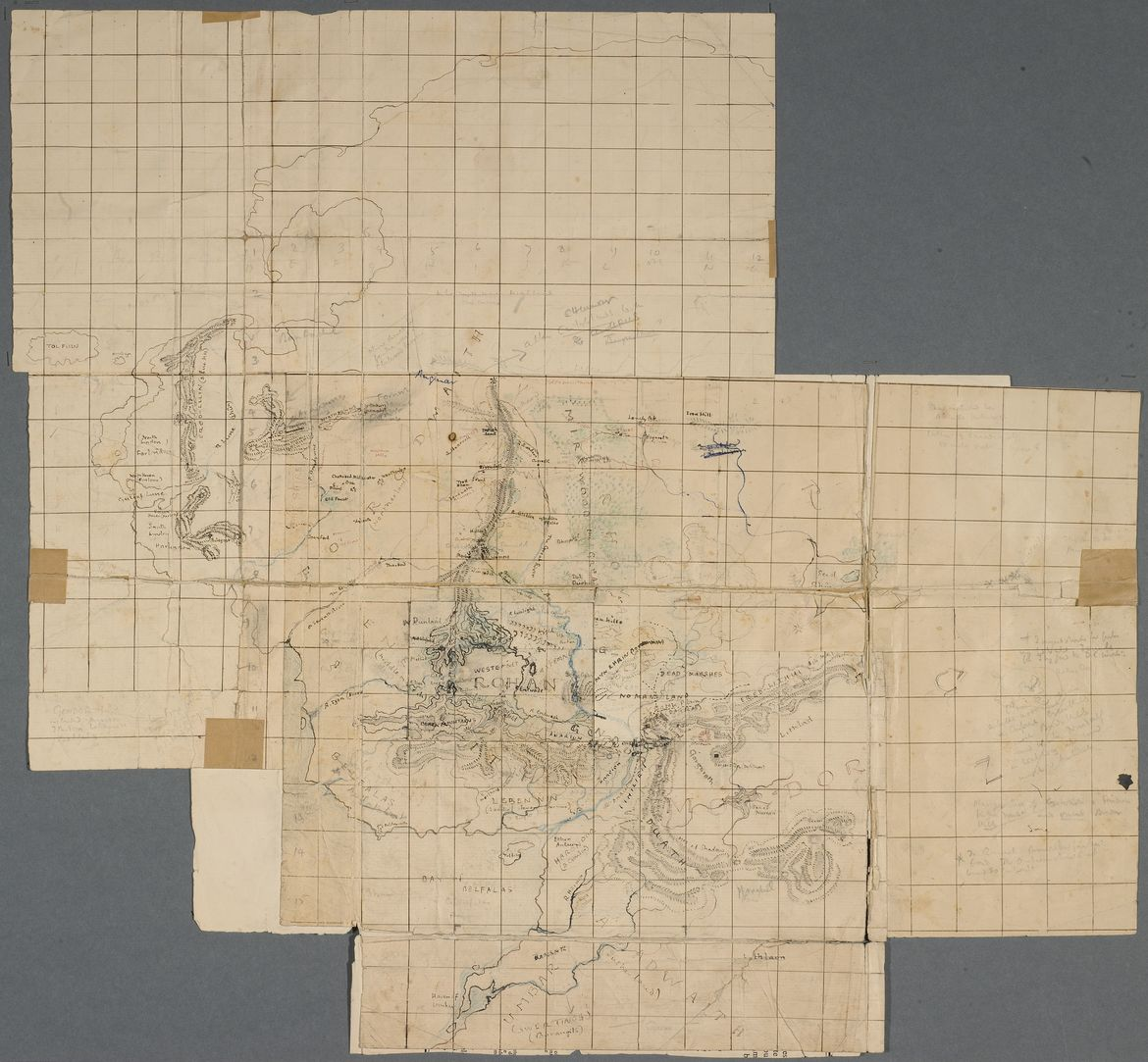 First map of Lord of the Rings – Morgan Library Tolkien exhibit